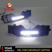 Free shipping !12V 6000k LED DRL Daytime running light case for Chevrolet Captiva 2008 2010 fog lamp frame Fog light Car styling