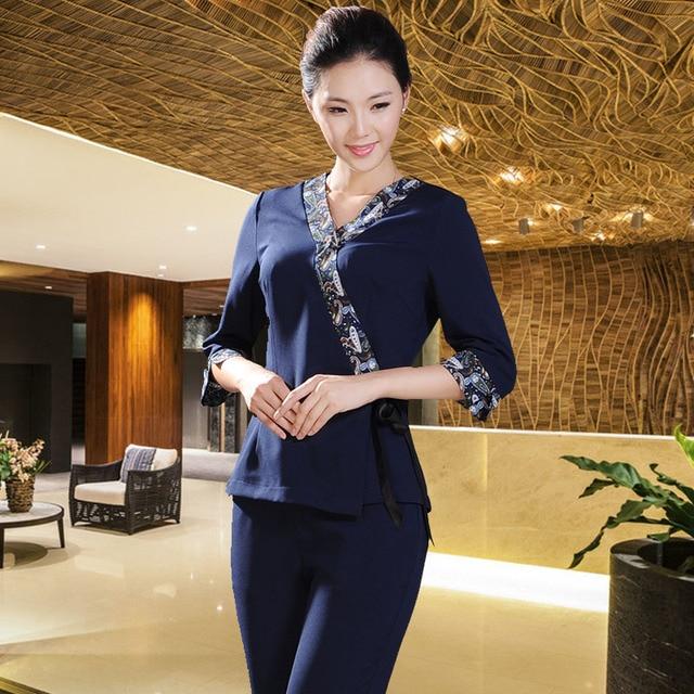 10sets free ship work wear spa thai overalls thailand for Baju uniform spa