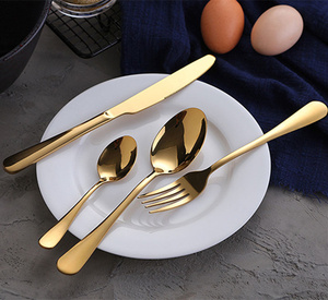 Image 3 - KuBac Hommi Gold Tableware Set Stainless Steel Cutlery Set 30Pcs Gold Knife Cutlery Cutlery Gold Drop Shipping