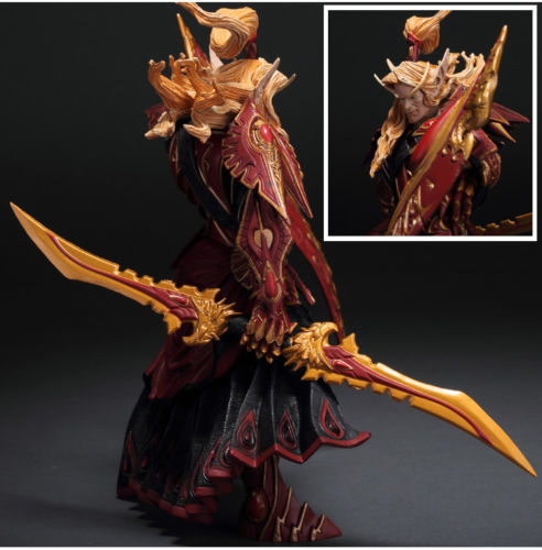 WORLD of WOW BLOOD ELF PALADIN QUIN'THALAN SUNFIRE ACTION FIGURE TOY genuine original online game character terran blood elf paladin spell breaker model doll ornaments