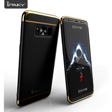 IPAKY Brand New Superb 3 In 1 Hybrid Electroplate Bumper Matte PC Cover Slim Fit Mobile Phone Case For Samsung Galaxy S8 S8 Plus