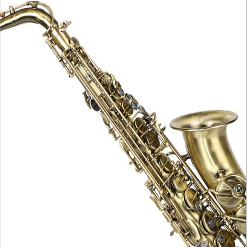 New Selmer Professional Gold Eb Alto Sax Saxophone with Accessories High Quality Green Drawing antique copper high grade concert rubber eb alto clarinet