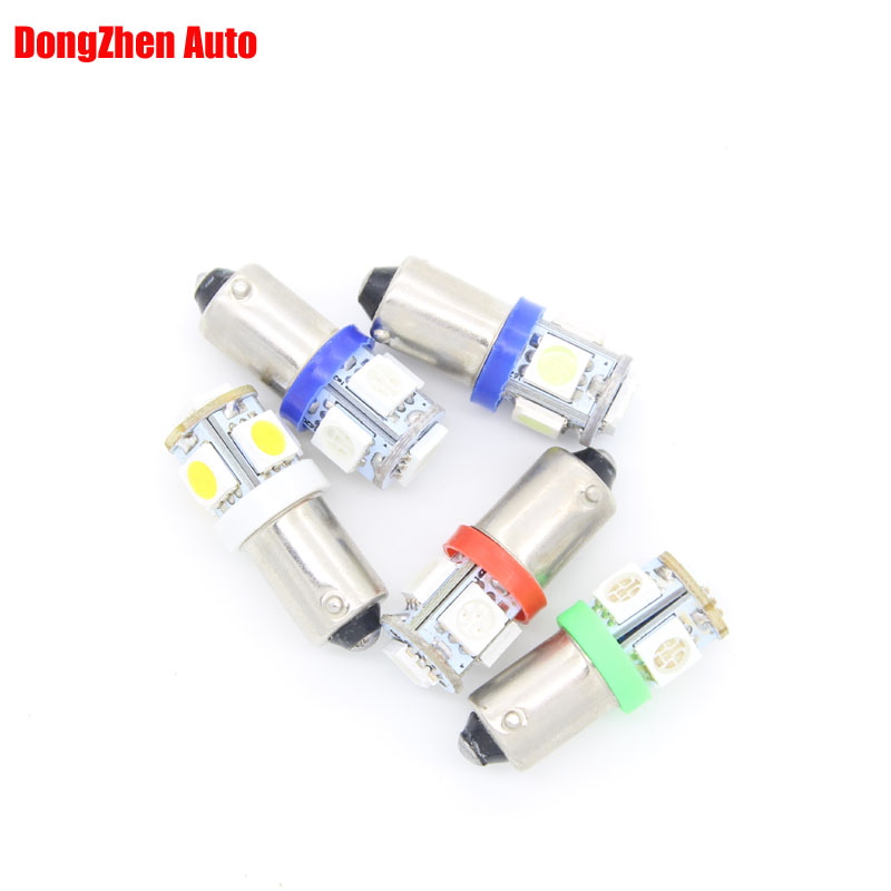 Dongahen T11 BA9S White 5050 SMD 5 LED Car Light Bulb Lamp 12V 1895 57 T4W 182 1445 6253 H6W 53 Indicator License Plate Map Dome 3156 12w 600lm osram 4 smd 7060 led white light car bulb dc 12v