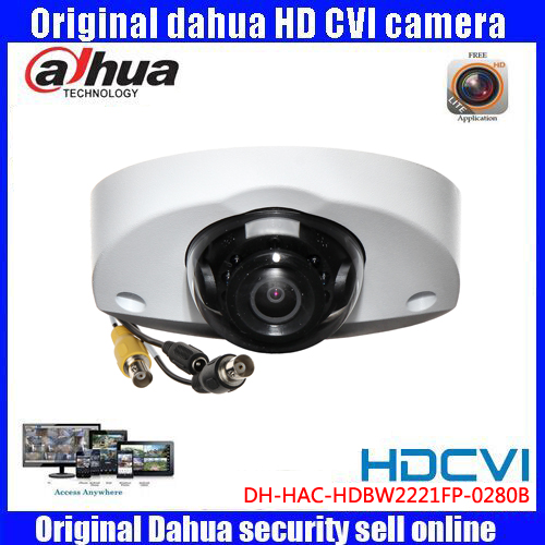 HD1080p Dahua HDCVI Camera 2MP DH-HAC-HDBW2221FP-0280B IR Dome  Security Camera CCTV IR distance 20m original dahua 4mp hdcvi camera dh hac hdw1400emp hdcvi ir dome security camera cctv ir distance 50m hac hdw1400em cvi camera