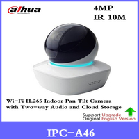 Original Dahua English IPC A46 4MP Network Dome Camera H.265 Wifi PT with Two way Talk Easy4IP baby monitor replace IPC A35