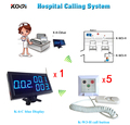 Беспроводная система медсестры из 1 настольного приемника дисплея для станции медсестры и 5 кнопок вызова пациента