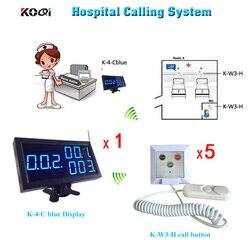 Pielęgniarka bezprzewodowy System 1 stojak wystawowy odbiornik dla pielęgniarka stacji i 5 przycisk wezwania pacjenta