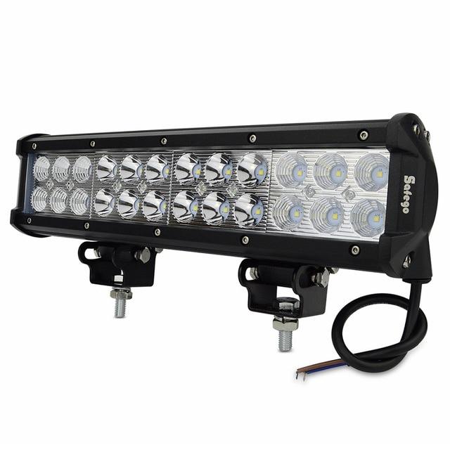 Safego 12inch 72W LED Light Bar Spot Flood Combo Offroad fog Lights ...