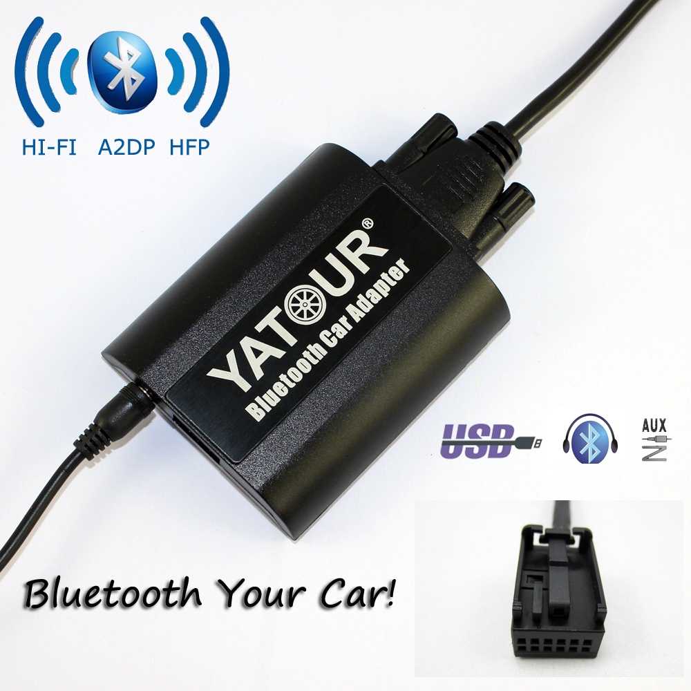 Yatour Bluetooth Car Adapter For  Peugeot Citroen RD4 RT3 Can-bus YT-BTA USB AUX IN HI-FI A2DP yatour for 12pin vw audi skoda seat quadlock yt m06 car usb mp3 sd aux adapter digital cd changer interface