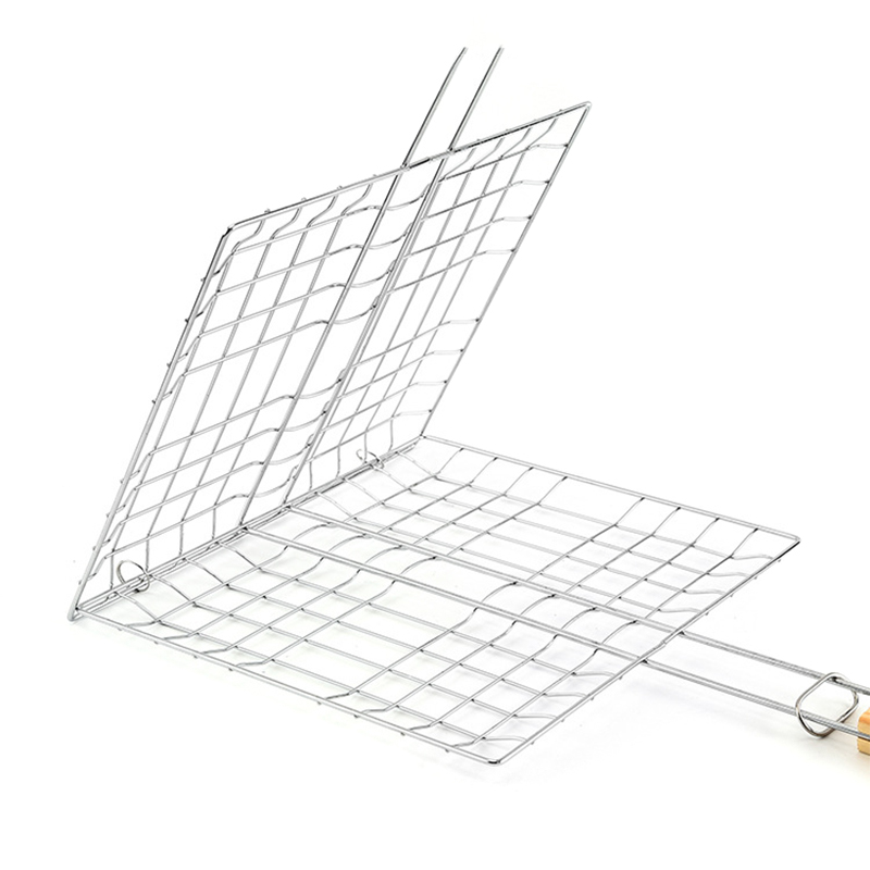 1 Pcs Hamburg Grilled Fish Clip Barbecue Net BBQ Tool for Outdoor Camping Picnic Hot Sale in Other BBQ Tools from Home Garden