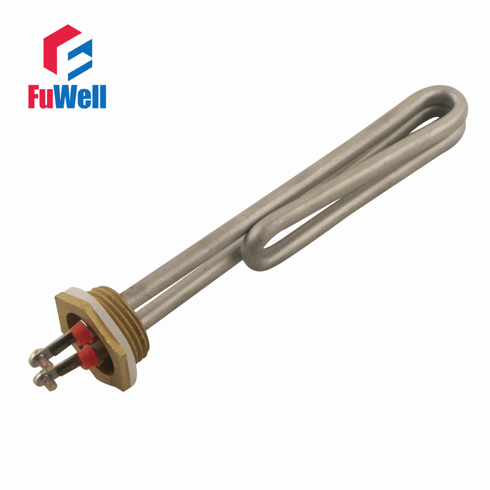 1 Inch Stainless Steel Copper Head Sauna Heating Tube 220V 3KW Electric Heater Pipe Water Boiler Heating Element