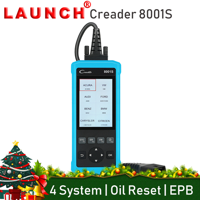 Special Price Launch Creader 8001S Professional OBD2 Auto Code Reader Scanner Car Diagnostic Tool Full OBDII 4 System Oil Reset EPB SAS BMS