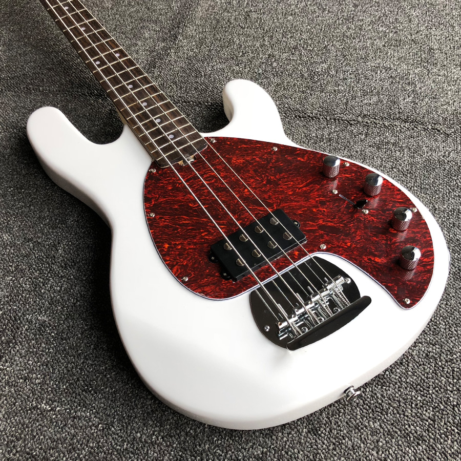 sterling ray white 4 string solid wood body active pickups musicman electric bass guitarras free. Black Bedroom Furniture Sets. Home Design Ideas