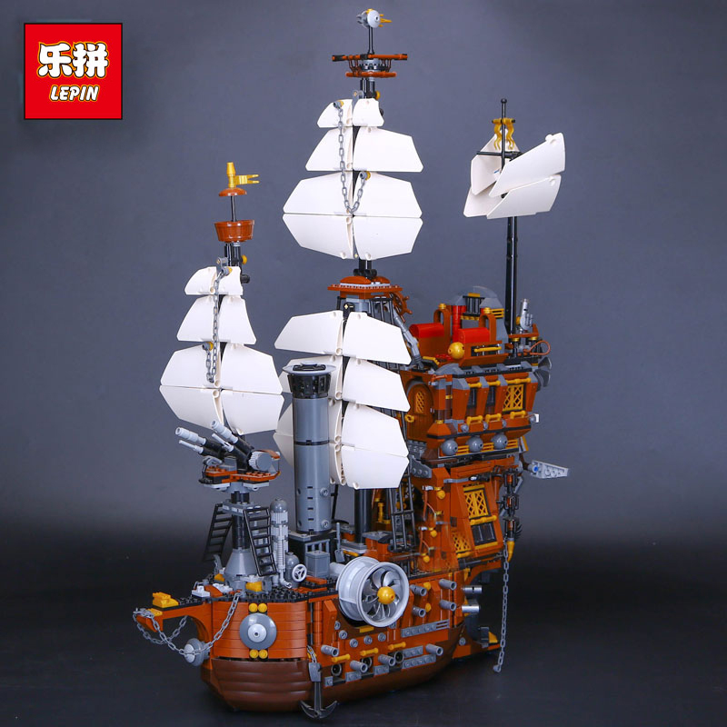 DHL lepin 16002 Pirate Ship Metal Beard's Sea Cow Set Model Building Blocks Bricks Compatible legoings 70810 DIY Kids Toys Gifts single sale pirate suit batman bruce wayne classic tv batcave super heroes minifigures model building blocks kids toys gifts