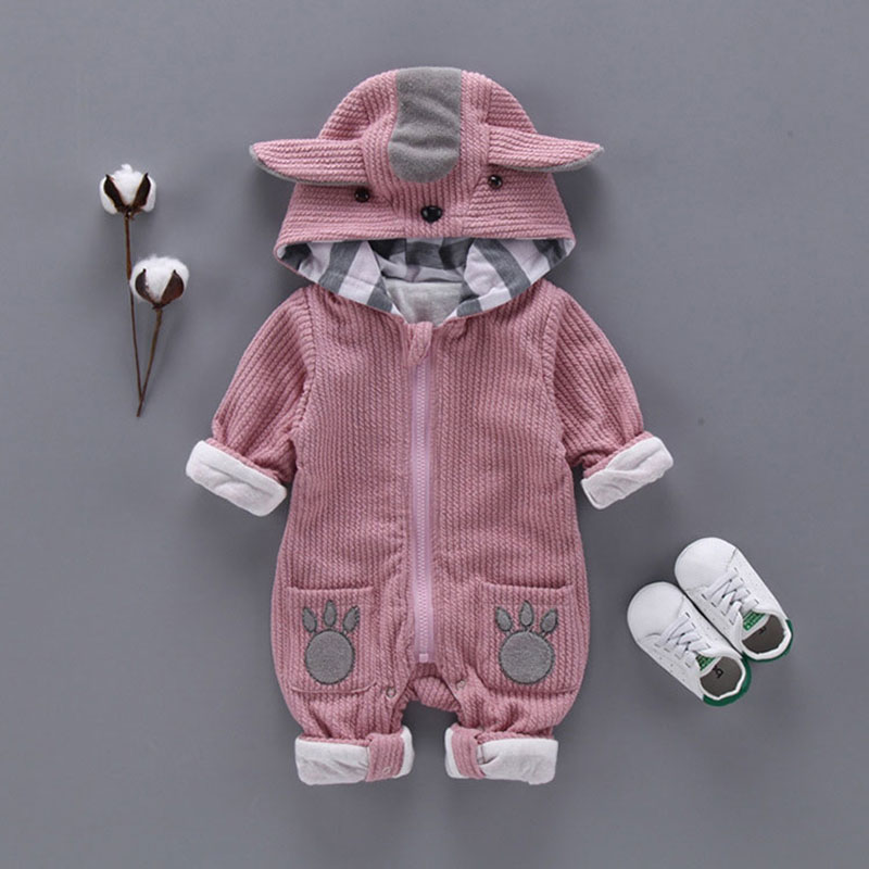 Newborn baby Boy girls clothes wear casual sports hooded suit jumpsuit cotton long-sleeved toddler baby clothing sets romper