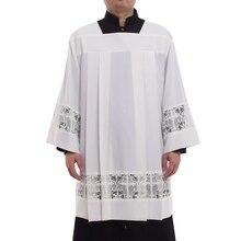 Katolik Kilisesi Seri Cüppe Liturgical Cotta Yelek Kare Boyun Latin Çapraz Elbise