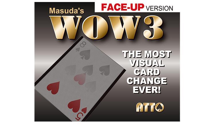 WOW 3 Face-Up By Katsuya Masuda Magic Tricks