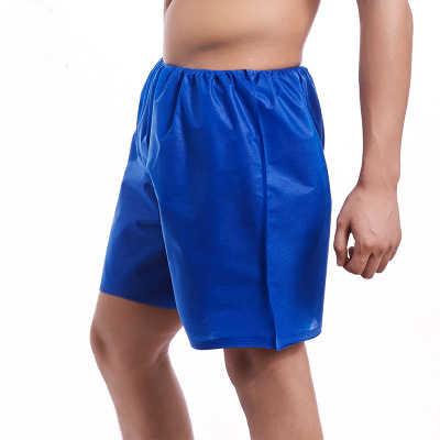 Ropa interior desechable pantalones azules no tejidos sauna masaje baño de pies burbuja dentro de la cintura playa natación hombre boxers SHYS20