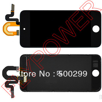 For ipod touch 5 LCD screen display with touch screen digitizer by free shipping; Black; 100% warranty new black white lcd touch digitizer screen assembly for ipod touch 5 5th gen generation free shipping low cost