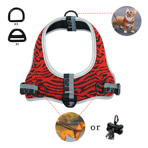 Image 3 - Reflective Dog Harness Adjustable Nylon Pet Mesh Harness Vest Pet Supplies For Medium Large Dogs Walking Training