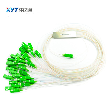 Mini PLC Optical Splitter 1x32 Steel Tube Optic Splitter With SC Connector FTTH ONU OLT Splitters