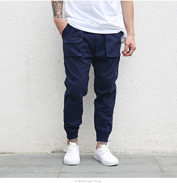 Odinokov Brand Quickly  Dry Men's Pants Pocket Full Length Men Hiphop Joggers Pants Trousers Men  Streetwear Large Pockets