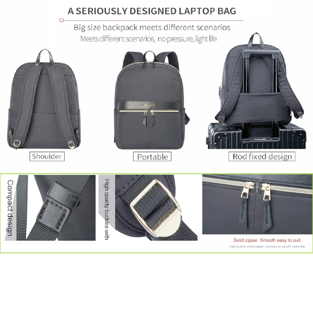 47d9604427 Cartinoe Fashion Women Backpack Girls Minimalist School College Bag Laptop  Bag 12 13 14 15 inch Laptop backpacks for teens-in Laptop Bags   Cases from  ...