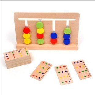 Montessori teaching aids childrens logical thinking training four color game educational toy gift 1pc