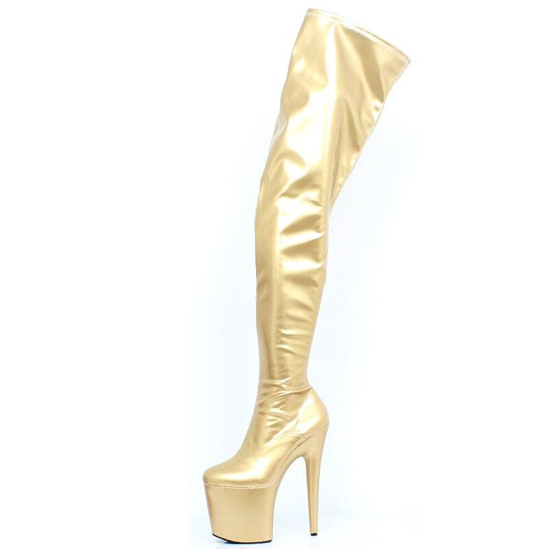 custom Taille Sexy Rond gold Jialuowei Haute Talon forme Longueur Shiny Zipper Shiny 36