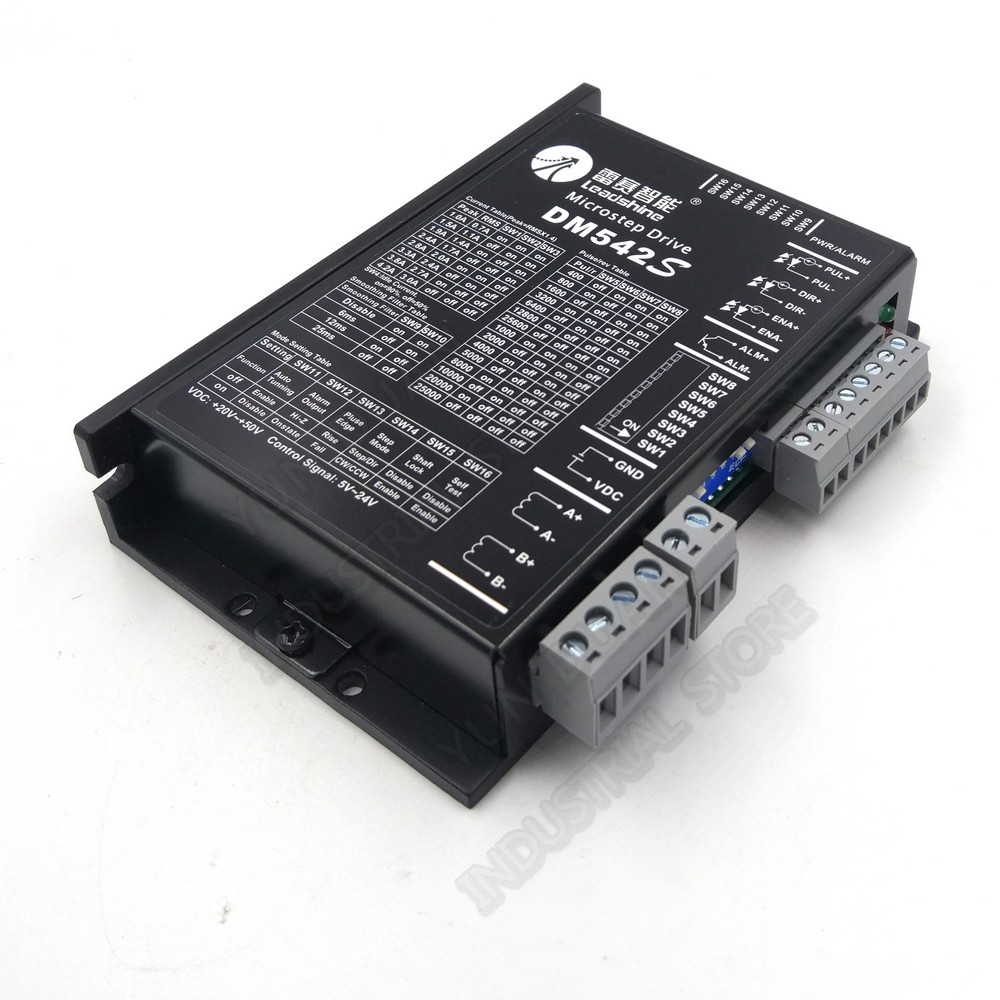Leadshine <font><b>DM542S</b></font> New Superior DSP 2PH 4.2A DC Driver For NEMA23 NEMA17 57mm 42mm Hybrid Stepper Motor replace DM542 M542 M542C image