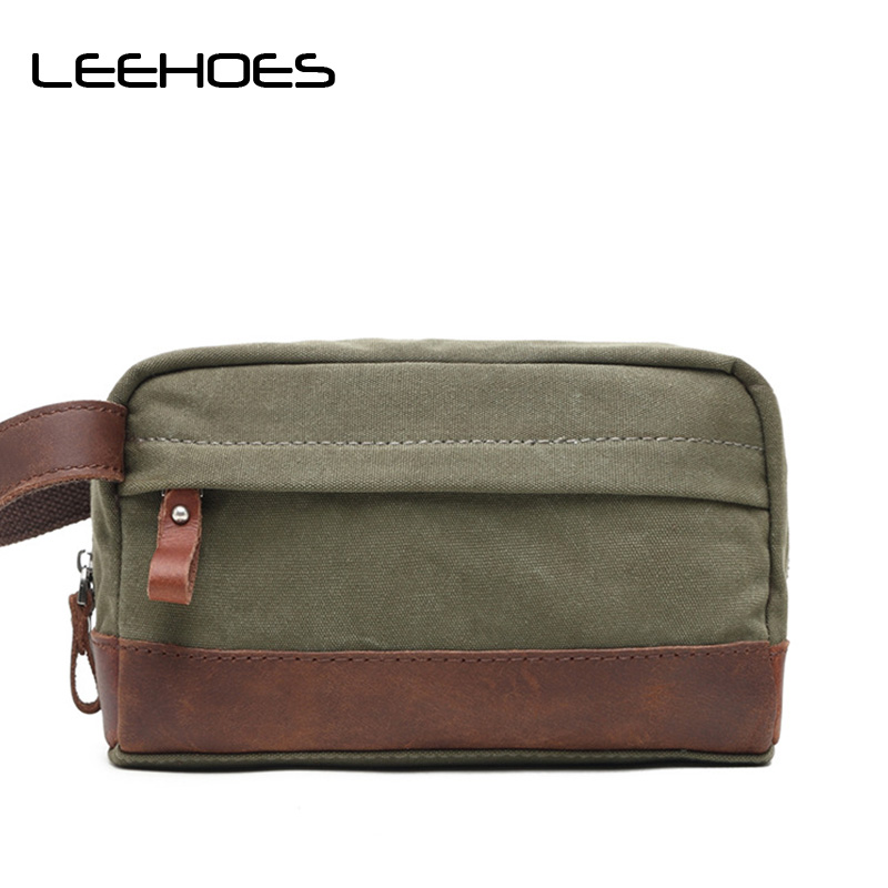 New Arrival Fashion Small Travel Shoulder Bag Men Messenger Bags Canvas Day Clutch Bag Zipper Business Briefcase Phone Clutches