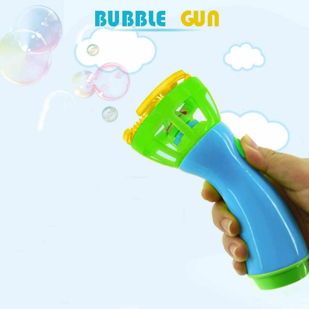 جديد الكهربائية فقاعة الصولجانات آلة للأطفال مع مصاصة صانع الموسيقى لعبة للهواء الطلق للأطفال التلقائي منفاخ الغذاء الصف