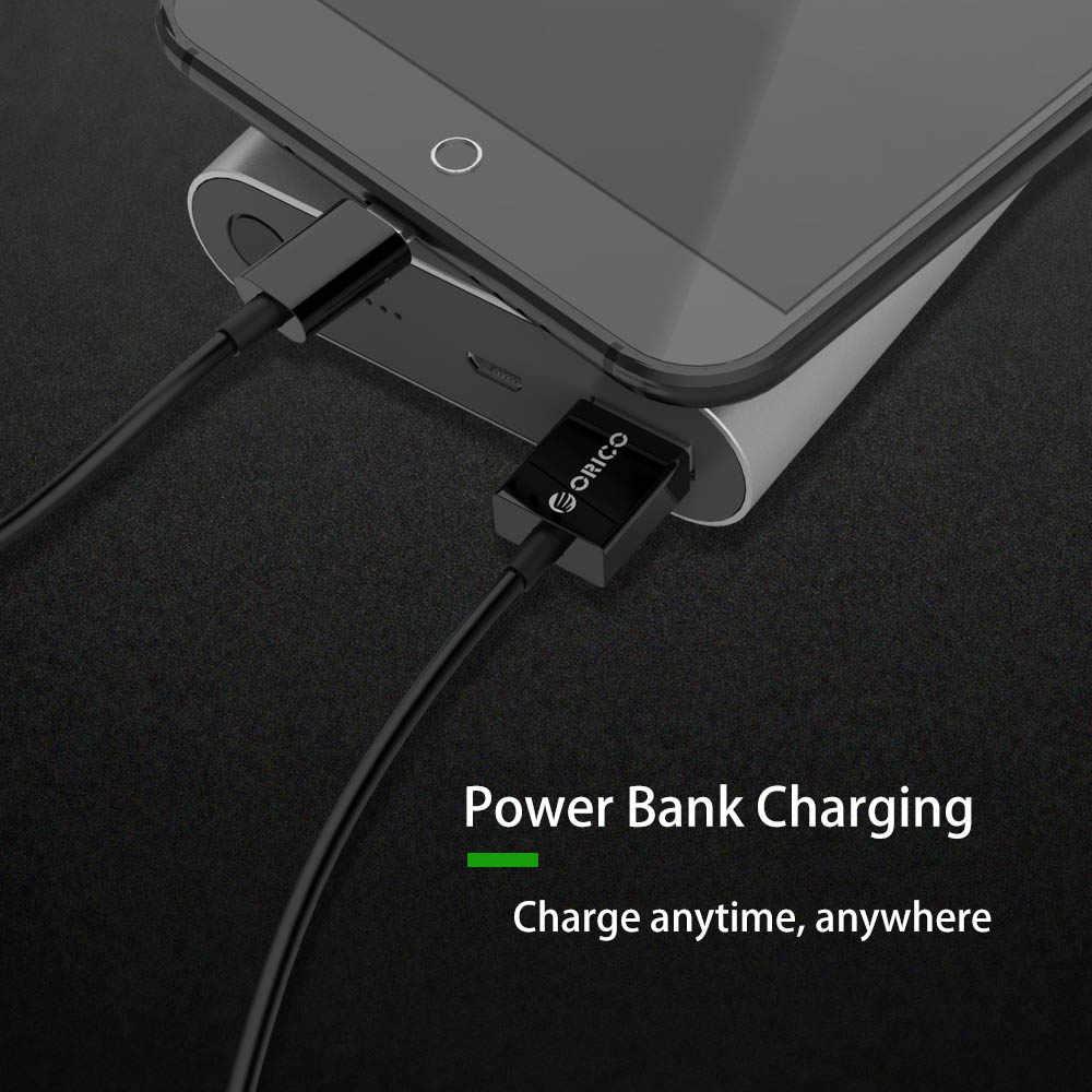 ORICO ADC mikro USB kablosu Samsung Xiaomi Huawei için USB veri kablosu cep telefonu Tablet için 0.5m/1m/2m 2A hızlı şarj kablosu