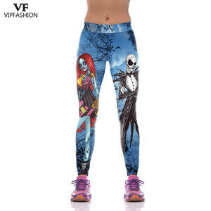 Printed Leggings Fitness Workout Women FASHION VIP 3D Halloween for Ladies Dracula New-Products