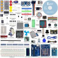 Keywish Most Complete RFID Sensor Starter Kit For Arduino UNO R3 Starter Kit Water-level Sensor Servo/DC/Stepper Motor RGB LED