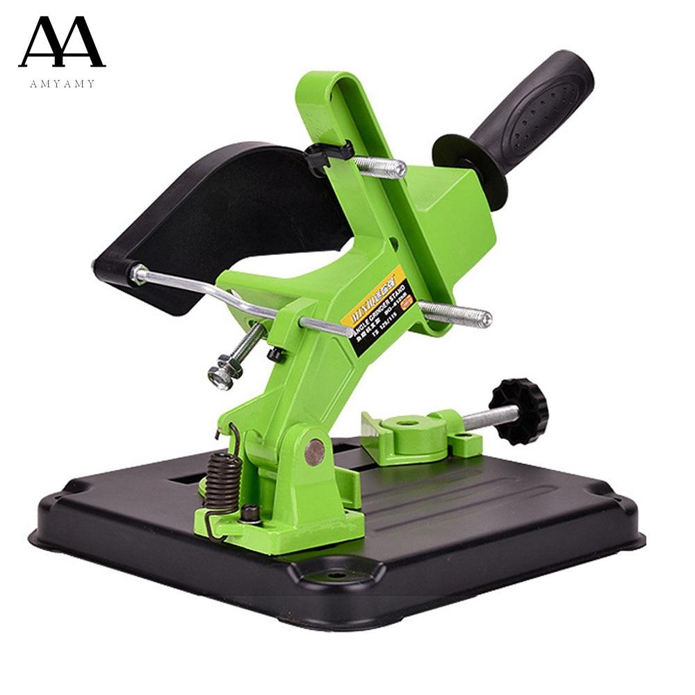 AMYAMY Angle Grinder Stand Aluminum bracket iron base Angle Grinder Holder support for 100 115mm angle grinder cutting aluminum angle grinder bracket holder