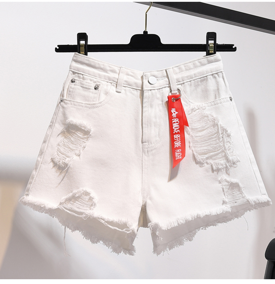 HTB1CJohJwHqK1RjSZFEq6AGMXXaC - TIGENA High Waist Denim Shorts Women Summer Plus Size Pocket Tassel Hole Ripped jeans Short Female Femme Short Pants Women