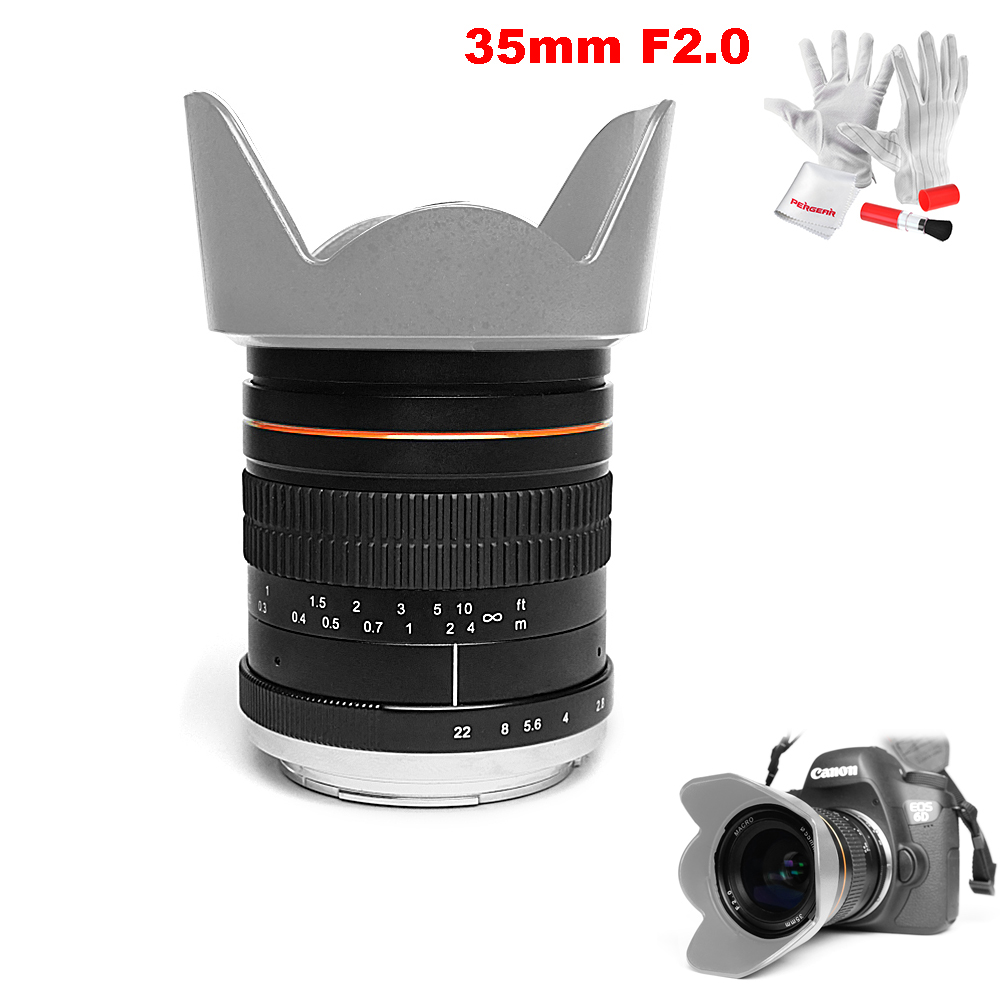 Kelda 35mm F2 0 Full Frame Fixed focus Large Aperture Prime Manual Lens for Sony Canon