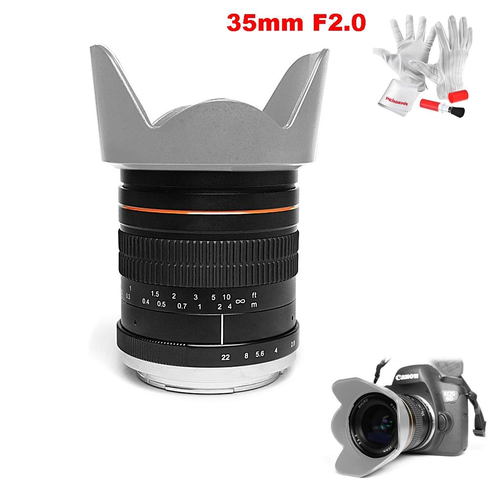 Kelda 35mm F2.0 plein cadre fixe-focus grande ouverture objectif manuel principal pour Sony/Canon/Nikon D850 D810 A7 A7S A7R 5D 6D 80D