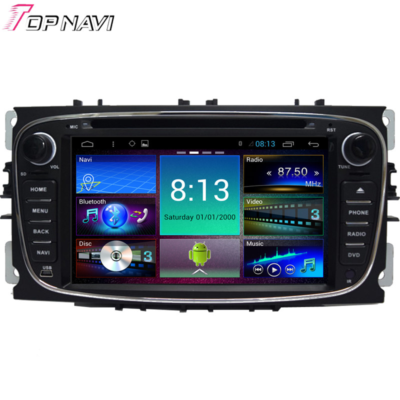 7'' Quad Core Android 4.4.4 Car GPS For Focus 2008 2009 2010 2011 With Mirror Link Stereo Audio Video Radio DVD Free Shipping