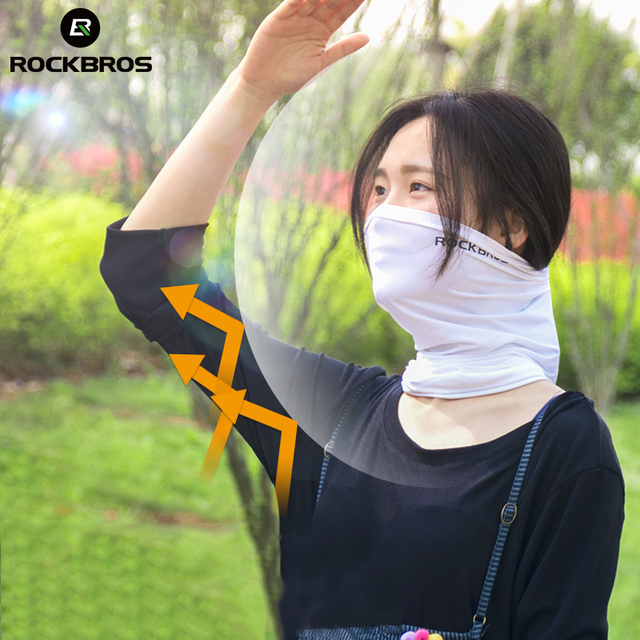 ROCKBROS Absorb Sweat Hiking Scarves Bandana Breathable Camping Scarf Neck Gaiter Running Cycling Bicycle Bandana Men Face Mask 4
