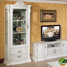 White Wine cooler Classic wood wine cabinet Single Door