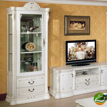 White Wine cooler Classic wood wine cabinet Single Door