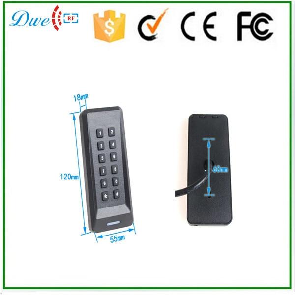 DWE CC RF Access Control Keypad MF 13.56 kHz RFID Card Reader with wiegand protol WG26 dwe cc rf rfid card reader metal case waterproof ip68 125khz emid or 13 56mhz mf wiegand 26 for access control system 002o