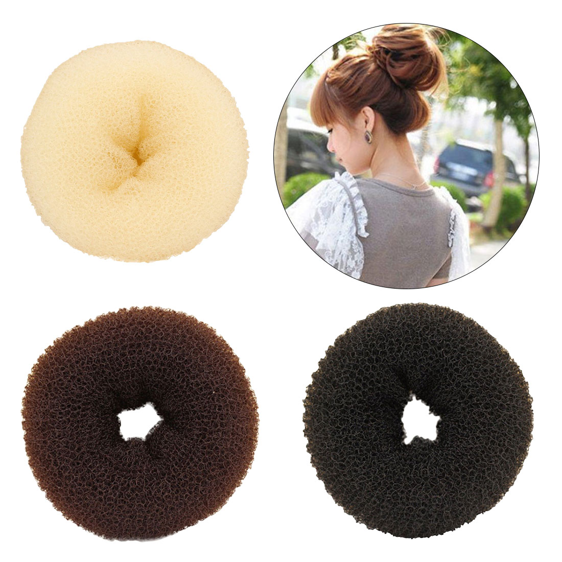 Hair Ring Headband Hair Bands For Women Super Large Hair Volumizing Hair Donut Ring Style Bun  Bump Large New Design