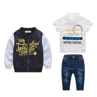 NEW Boys Clothing Set Casual Clothes Boys Clothes Shirt Jeans Baseball Coat