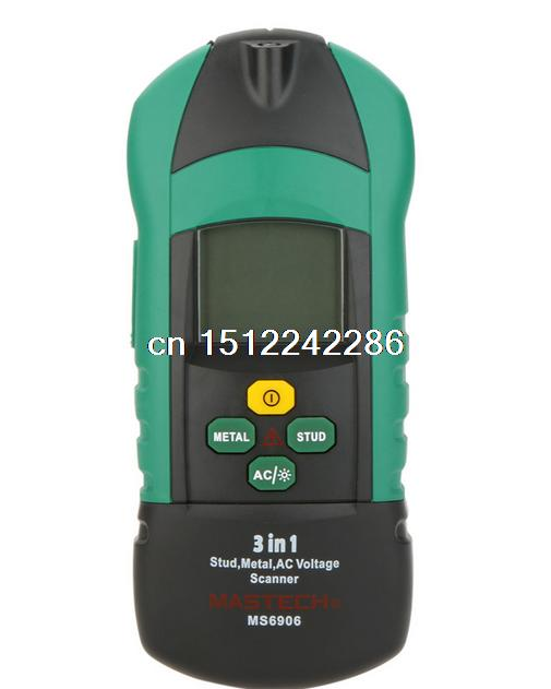 MASTECH MS6906 3 in 1 Multi-function Stud Metal AC Voltage Scanner Detector Tester Thickness Gauge w/ NCV Test