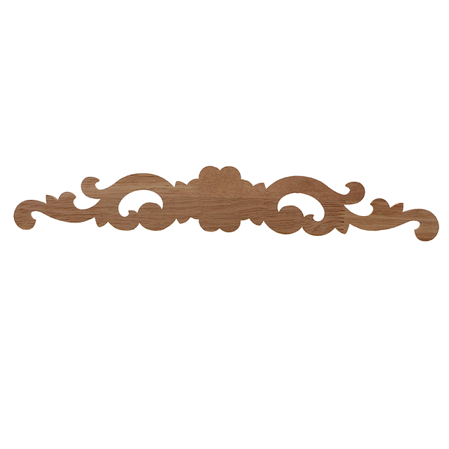 Carved Wooden Furniture Ornament with Flower