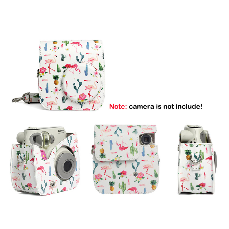 Quality Protective Case for Fujifilm Instax Mini 7s 7c Instant Film Camera, Soft PU Leather Bag with Removable Shoulder Strap 1
