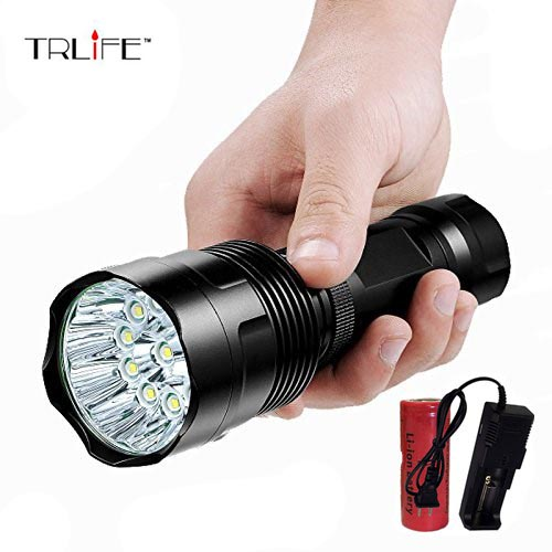 2018 New Powerful 30000LM 16 x L T6 5 Modes LED Flashlight Torch 26650 Battery Hunting Lamp Light Lantern for Camping,Hiking new hunting camping 9 12 15 18 led 21 x xm l t6 5 modes led flashlight for 26650 18650 battery high quality torch lamp